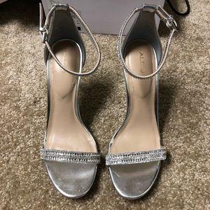 Silver Aldo Ciasa Heels
